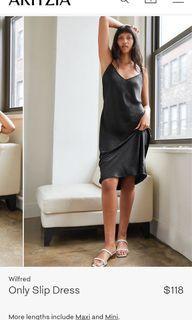 Aritzia Wilfred Only Slip Dress Black XS