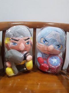 Boneka Captain America dan Thor