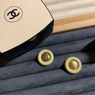 Chanel鈕扣 經典胖圈圈 春天黃色2顆