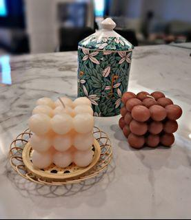 Kardashians scented candle and Bamboo cupmats