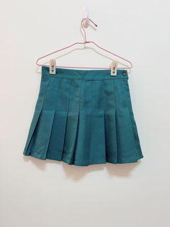 Lulus墨綠百摺短裙(有內裡)s號