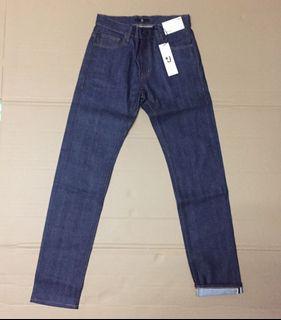 New original uniqlo selvedge slim fit straight jeans