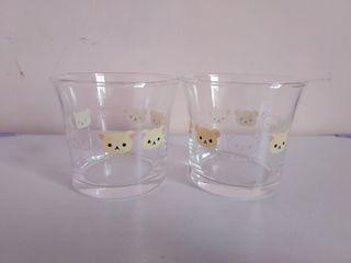 Rilakkuma懶懶熊/拉拉熊玻璃杯 二入