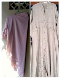 Satu set khumaira dress dan kirana khimar dari Atelier Angelina