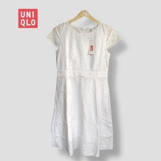 Uniqlo lace dress brukat
