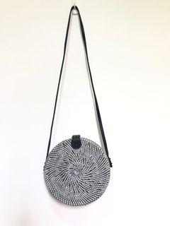 Rattan Woven round bag