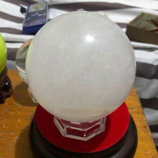 白水晶球(10公分)贈底座