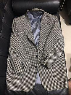 千鳥紋古著西裝外套