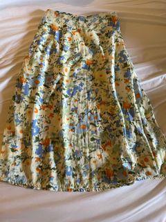 水彩風 法式裙