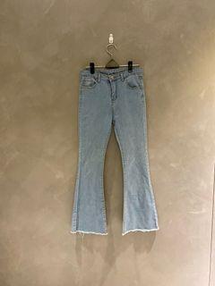 牛仔褲 韓版 韓系 微喇叭 喇叭褲  寬褲 丹寧褲