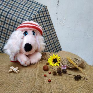Boneka anjing pink original made in korea