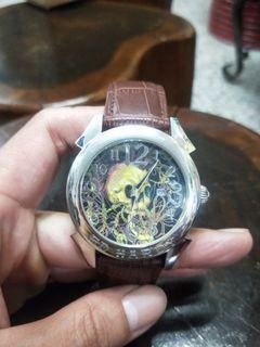 二手ED HARD絕版骷髏錶