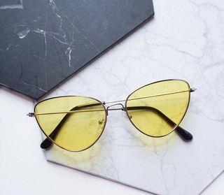 Emma Yellow Sunglasses