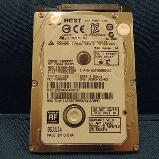 """HGST 500GB 2.5"""" SATA HDD Laptop Notebook Harddisk"""