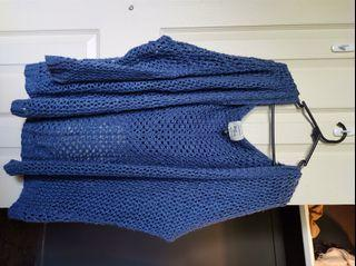 HOODED KNIT CARDY