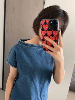 JAMEI CHEN。牛仔圓領洋裝。質感佳。二手衣。😘
