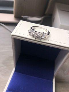 Lab diamond ring size us6.5