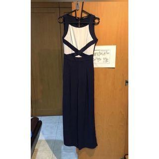 LAUD Official White and Navy Jumpsuit (Size S)