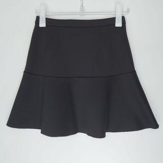 MANGO semi high waist peplum mini skirt