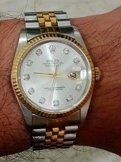 Rolex 16233 santung diamond no pin hole full ori