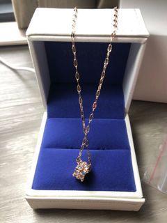 Rose gold . Lab diamond necklace