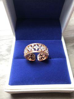 Rose gold open ring