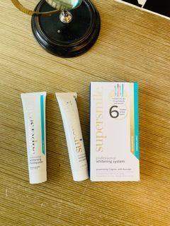 全新SUPERSMILE專業牙齒美白組合: 牙膏 50g +速效美白牙膏 34g(門市售價1200元)#防疫
