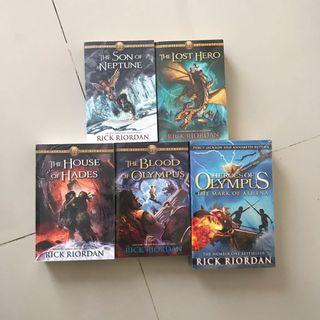 The Heroes of Olympus by Rick Riordan | Preloved Import Novel English