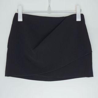 ZARA low waist black mini skirt