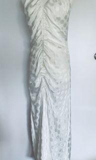 歐美白色點點居家連身裙