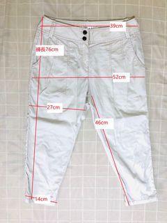 夏季窄版款的七分哈倫褲