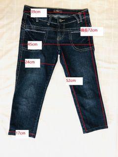 低腰牛仔七分褲