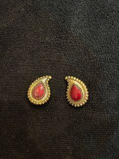 (二手)復古夾式耳環