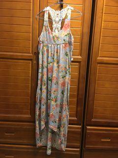 日牌 Rose Bowl Deco 前短後長花樣洋裝