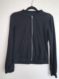 Black thin bomber jacket