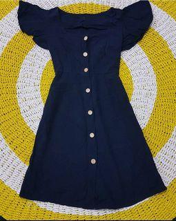 Button Dress Navy