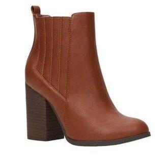 Call It Spring 皮革短靴 粗高跟靴