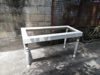 Classic white table frame only