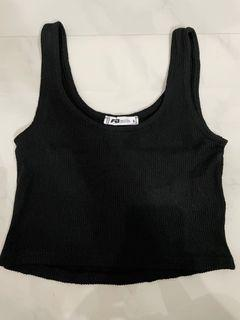 FB Sisters Black Knitted Sleeveless Top
