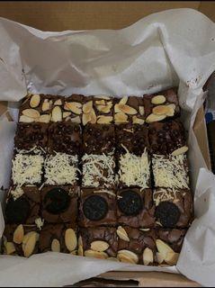 Fudgy Brownies sekat coklat