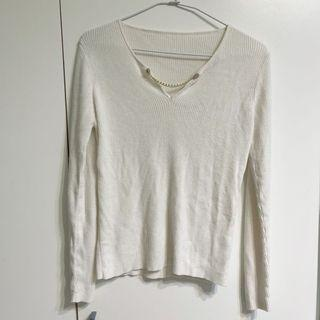 Home shop 白色素款上衣