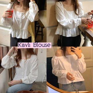 kavli blouse Import blouse putih polos blouse casual blouse katun