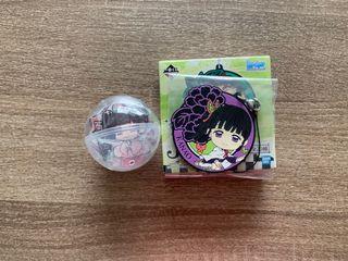 Kimetsu no Yaiba - Kanao Kuji Rubber Strap + Gachapon Button Pin