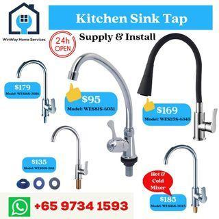 Kitchen Tap, Basin Tap, Shower Mixer Tap, Bidet Spray (Installation Included)