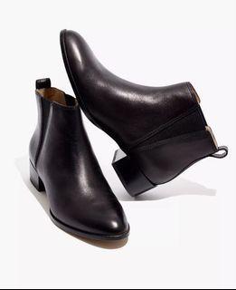 Madewell The Carina Block Heel Booties True Black Size 7
