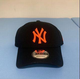 Newera 2021新款 9Forty NY logo 螢光橘