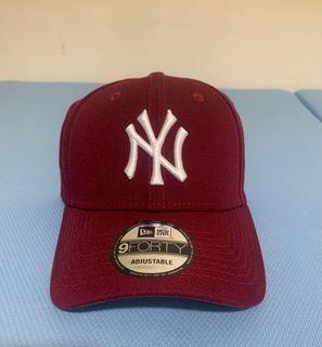Newera 9Forty NY logo 酒紅色