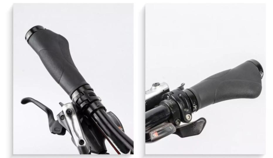 PROMEND Bike Handlebar Grips Ergonomic Bike End Bar for MTB Bike E-Bike Accessor