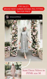 Semi Dress Velove Pink