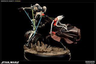 Sideshow RARE Star Wars Shaak Ti vs Grievous The Hunt for Jedi Diorama